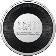 Royal Aust. Mint AC/DC 20c Uncirculated Coin - Back in Black