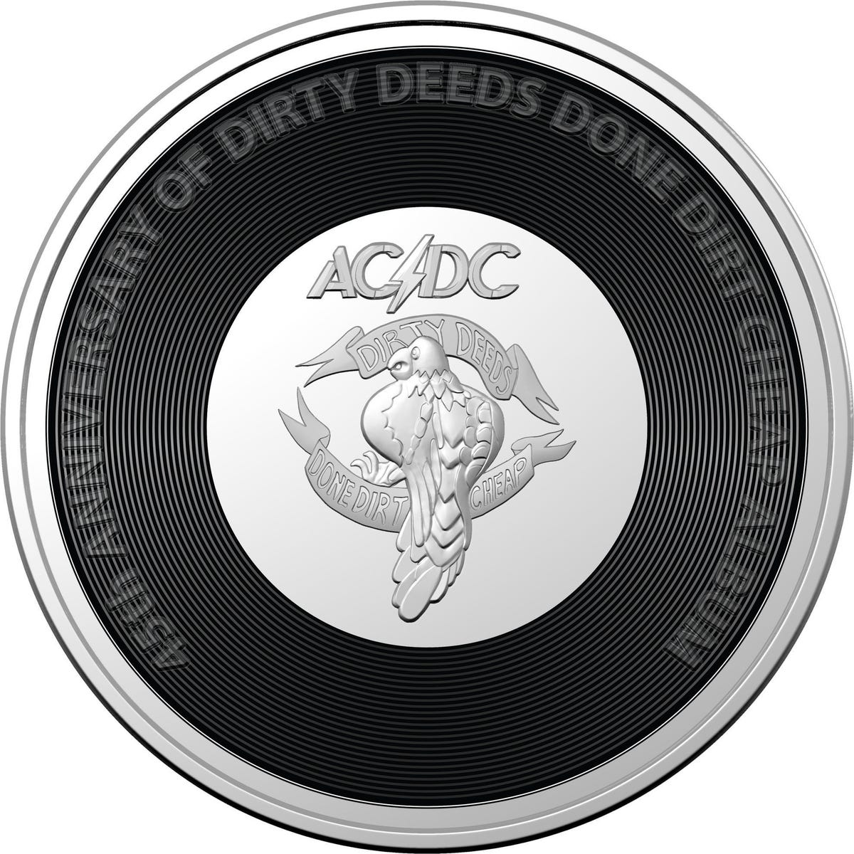 Royal Aust. Mint AC/DC Coin Collection - Limited - Seven Uncirculated Coins