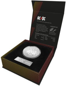 Royal Aust. Mint AC/DC $1 Silver Frosted Uncirculated Coin