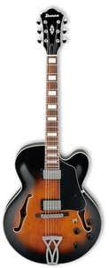 Ibanez AF75 Artcore Electric Guitar - Brown Sunburst
