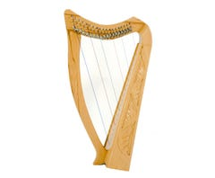 """Paytons 29"""" 19-String Leaning Pixie Harp - Carved Beechwood (01110)"""