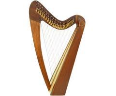 """Paytons 29""""  24-String Folk Harp - Plain Beechwood (01120)"""