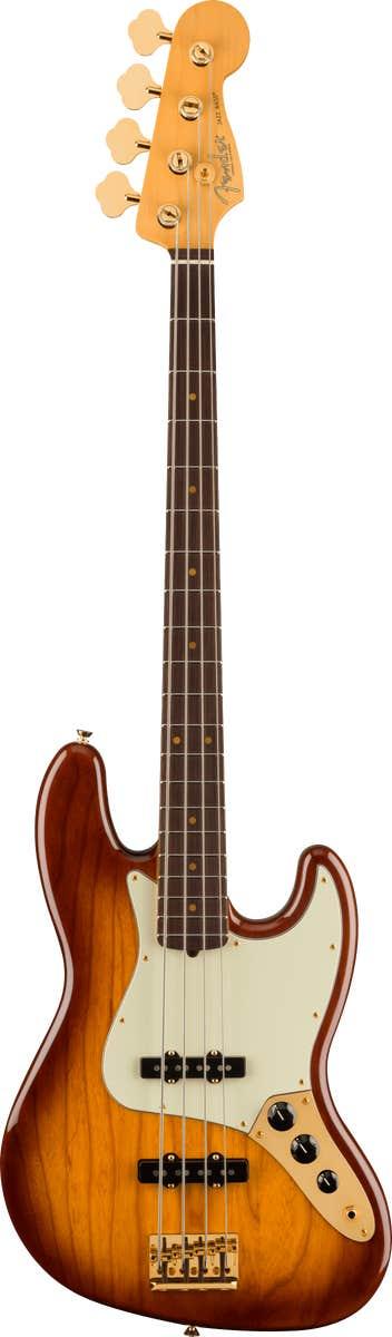 Fender 75th Anniversary Commemorative Jazz Bass w/Case - 2-Color Bourbon Burst (Limited)