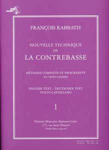 NEW TECHNIQUE FOR THE DOUBLE BASS BK/CD / RABBATH (LEDUC)