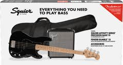 Squier Affinity Series Precision Bass PJ Package - Black MN