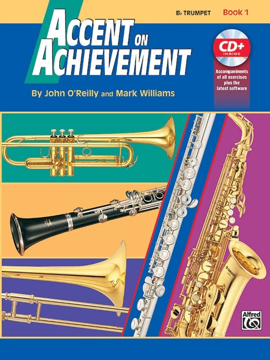 accent on achievement book 1 trumpet / OREILLY WILLIAMS (ALFRED)