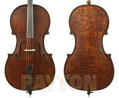 Gliga II 4/4 cello outfit, aged dark antique