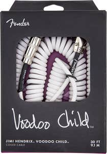Fender Hendrix Voodoo Child Instrument Cable - White