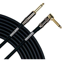 """ogami Platinum Guitar Cable 1/4"""" Jacks Right Angle to Straight - 12ft"""