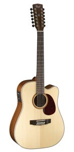 Cort MR710F-12 12 String Dreadnought with Cutaway and Pickup - Natural