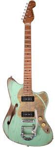 Paoletti Guitars 112 Lounge 2P90 w/Bigsby - Sage Green