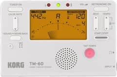 Korg TM60 Tuner/Metronome - White (TM-60)