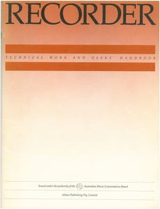 ameb recorder technical workbook /  (AMEB)