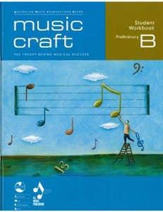 music craft student workbook prelim gr b bk/cd / ameb (allans)