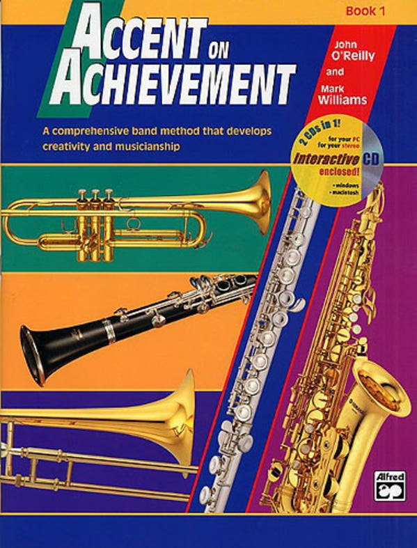 accent on achievement book 1 e flat alto saxophone / OREILLY WILLIAMS (ALFRED)
