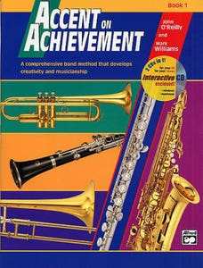 accent on achievement book 1 trombone / OREILLY WILLIAMS (ALFRED)