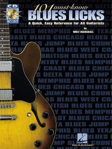 GUITAR LICKS 101 MUST KNOW BLUES LICKS BK/CD (HAL LEONARD)