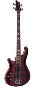 Schecter Omen Extreme-4 Bass - Black Cherry - Left Handed