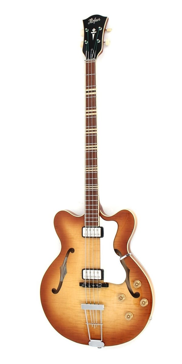 Hofner Verythin Bass CT Semi-Hollow Electric Bass - Sunburst