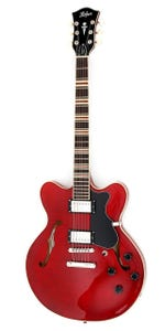 Hofner Verythin CT Semi-Hollow Electric Guitar - Transparent Red
