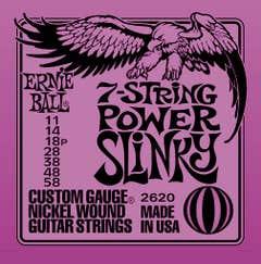 Ernie Ball Power Slinky Electric Guitar 7-String Set  11-58 (2620)