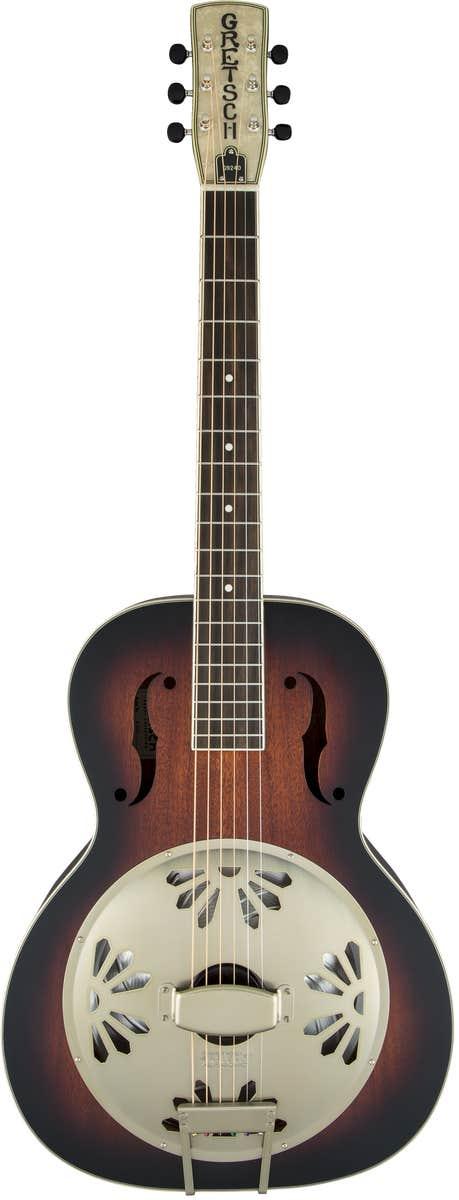 Gretsch G9240 Alligator Round-Neck Resonator Guitar - 2-Tone Sunburst