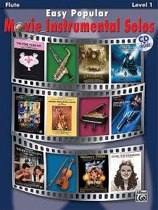 Easy Popular Movie Instrumental Solos Fl BK/CD /  (ALFRED)