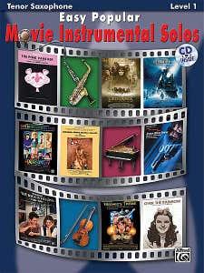 easy popular movie instrumental solos tsax BK/CD /  (ALFRED)