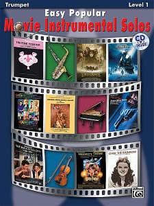 Easy Popular Movie Instrumental Solos Trumpet BK/CD /  (ALFRED)