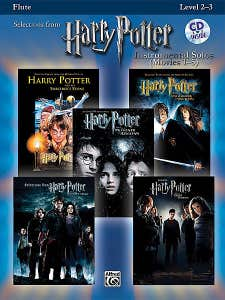 harry potter instrumental solos movies 1-5 flute BOOK/CD /  (ALFRED)