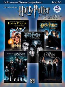 harry potter inst solos movies 1-5 cello BK/CD /  (ALFRED)