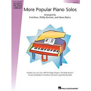 hlspl more popular piano solos lvl 2 /  (HAL LEONARD)