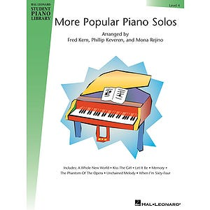 hlspl more popular piano solos lvl 4 /  (HAL LEONARD)