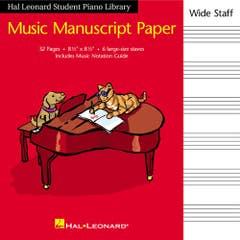 hlspl manuscript paper wide staff /  (HAL LEONARD)
