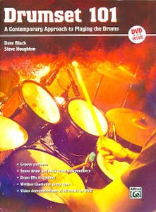 DRUMSET 101 BK/DVD / BLACK HOUGHTON (ALFRED)
