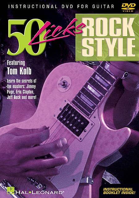 licks 50 rock style DVD / KOLB TOM (HAL LEONARD)