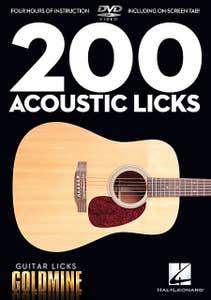 Guitar Licks Goldmine 200 Acoustic Licks Dvd /  (HAL LEONARD)