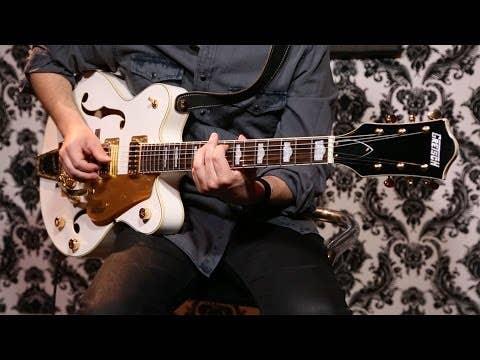 Gretsch G5422TG Hollow Body Electric Guitar w/ Bigsby - Snow Crest White