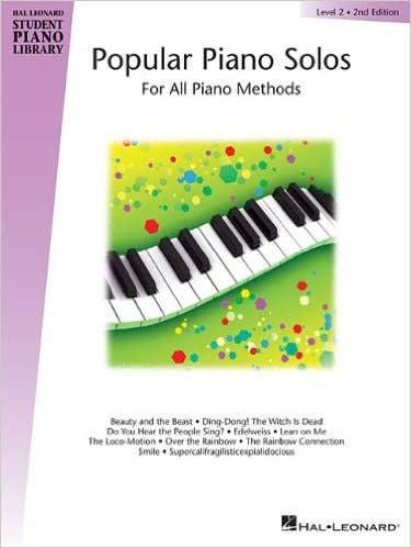 hlspl popular piano solos book 2 /  (HAL LEONARD)