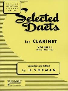 Selected Duets book 1 - Clarinet / VOXMAN (RUBANK)