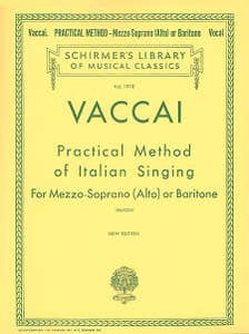 Practical Method of Italian Singing - Mezzo Soprano/Alto/Baritone / VACCAI (SCHIRMER)
