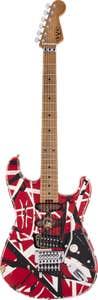 EVH Striped Series Frankie - Red/White/Black Relic