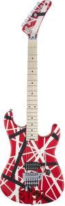EVH Striped Series 5150 Electric Guitar - Red/Black/White Stripes