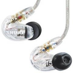 Shure SE215 Sound Isolating Earphones - Clear (SHR-SE215-CL)