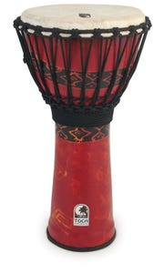 Toca Freestyle Rope Tuned 12'' Djembe - Red