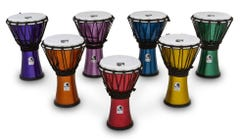 """Toca Freestyle Colorsound 7"""" Djembes (Set of 7)"""