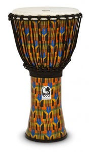 """Toca Freestyle Rope Tuned 12"""" Djembe - Kente Cloth"""