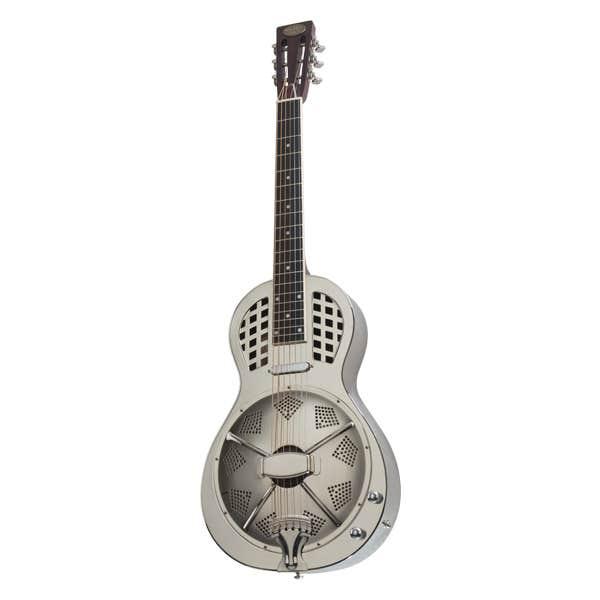 Bourbon Street Parlour Resonator Guitar w/Pickup + Case - Chrome Finish
