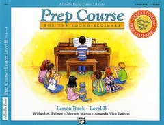 Alfred's Basic Piano Library Prep Course Lesson Level B (Alfred)