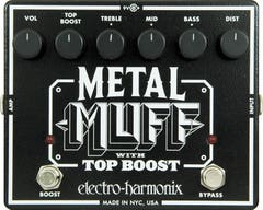 Electro Harmonix Metal Muff w/Top Boost Distortion Pedal